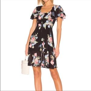 LPA Floral button up midi dress